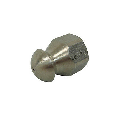 """MTM Hydro 17.0841 Fixed Sewer Jetting Nozzle SS 1/4"""" NPTF 8.0"""