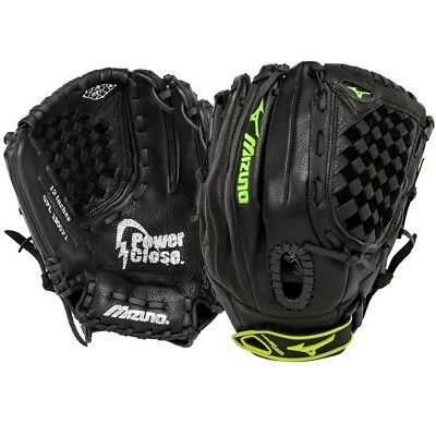 "Mizuno 12"" Prospect Fastpitch Youth Softball Glove, Black, Left Hand Throw"