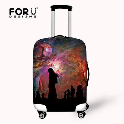 Galaxy Design Luggage Protective Covers Elastic Polyester Travel Suitcase Cover