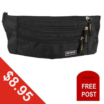 Money Belt Pouch Travel Secruity Money Passport Credit Card Bag Wallet Black NEW