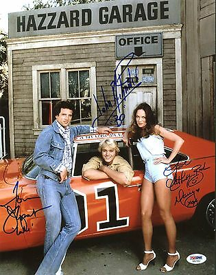 DUKES OF HAZARD - Signed colour photo by all three main cast  (PSA/DNA)