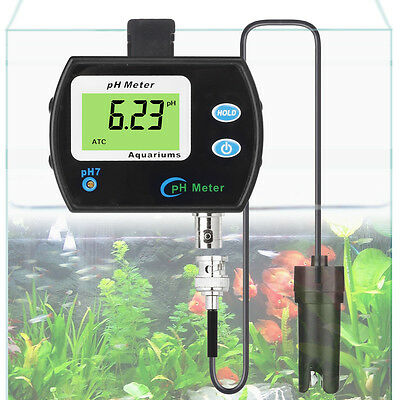 Waterproof Digital pH/EC Monitor Replaceable pH Electrode aquariums hydroponics