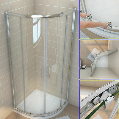 Quadrant Shower Enclosure Walk In Corner Cubicle 800x800,900x900mm Shower Doors