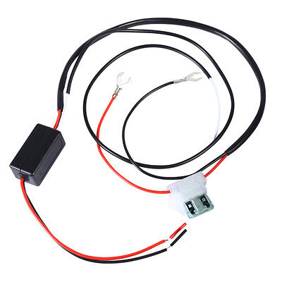 Car 12V LED DRL Daytime Running Light Relay Harness Auto Control On Off Switch