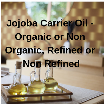 Jojoba Base OIL 100% PURE (Organic or Not Organic) Cold Pressed Carrier Massage