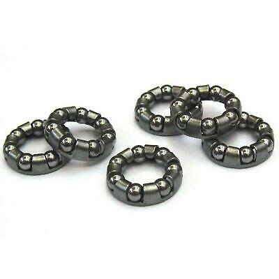 Bicycle Rear Wheel Axle 1/4″Inch  x 7 Ball Bearing Cages Pair MTB Bike Cycle