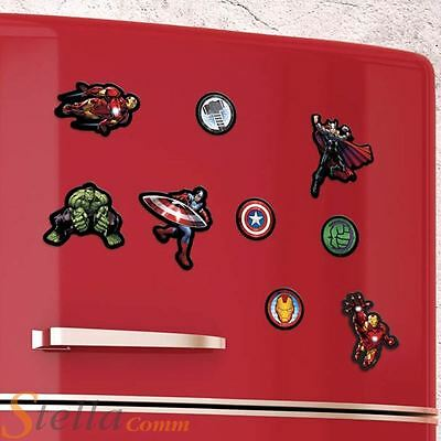 18 Marvel Avengers Kitchen Fridge Magnets Iron Man Hulk Captain America Thor