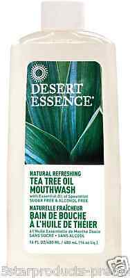 New Desert Essence Natural Tea Tree Oil Mouthwash Alcohol Free Herbal Skin Care