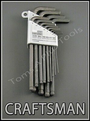CRAFTSMAN HAND TOOLS 13pc METRIC MM Ball End Allen / hex key wrench set !!