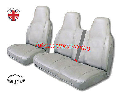 Ford Transit - Heavy Duty Grey Leatherette Van Seat Covers - Single + Double