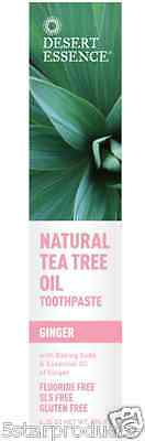 New Desert Essence Natural Tea Tree Oil Whitening Plus Toothpaste Teeth Care