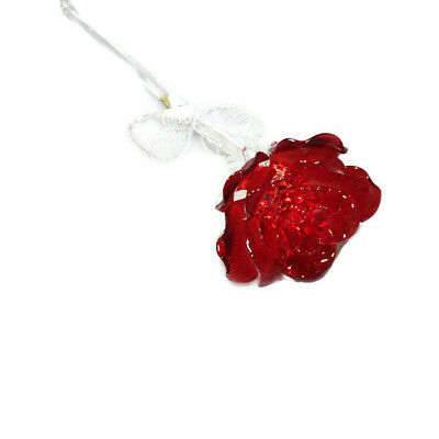 """Waterford Crystal Fleurology 14"""" Glass Red Rose"""