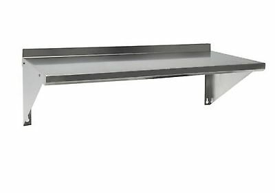 Quality Stainless Steel Commercial Wall Mounted Shelf with Backsplash 33x12x2