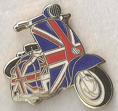 SCOOTER UK BADGE 30mm x 25mm