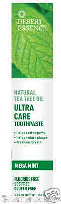 New Desert Essence Tea Tree Oil Ultra Care Toothpaste Helps Soothe Gums Care