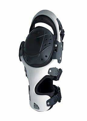 Tryonic T6 Motorcycle Knee Brace Left Right or Pair White | Rev'it! Rev it Revit