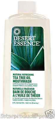 New Desert Essence Tea Tree Oil Mouthwash Refreshing Oral Dental Care No Sugar