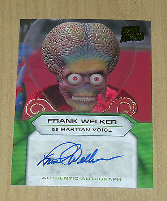 2013 Topps MARS ATTACKS INVASION actor autograph card Frank Welker