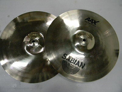 "Pair Sabian 14"" AAX Stage hi-hats hihat top and bottom. 21402X new condition"