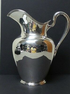 """A. G. SCHULTZ STERLING SILVER CLASSIC MID-CENTURY 10"""" WATER PITCHER, 846 grams"""