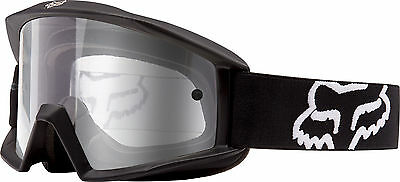 New Fox Racing Main Offroad Motocross Mx Adult Goggles Matte Black/clear
