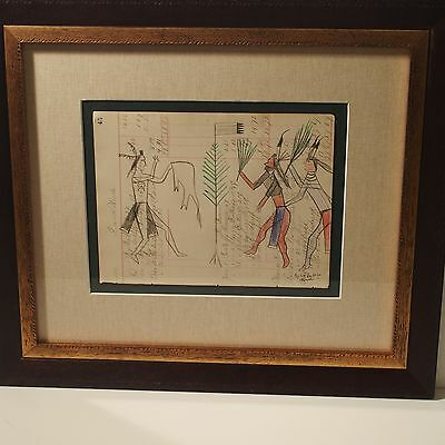 Brent Learned Original Ledger Art / Cheyenne-Arapaho