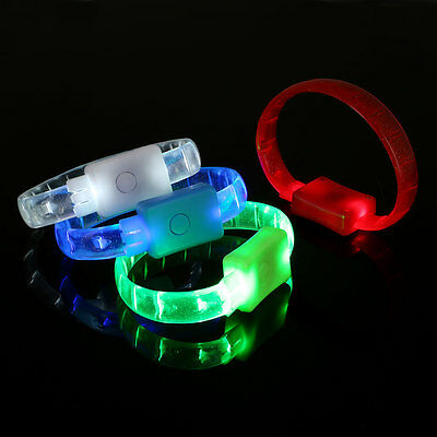 LED Siliocne Wristband Arm Belt Luminous Running Jogging Cycling Camping Party