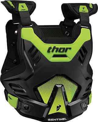 2017 Youth Thor Mx Black Flo Green Sentinel Gp Chest Back Protector Level 1 Dirt