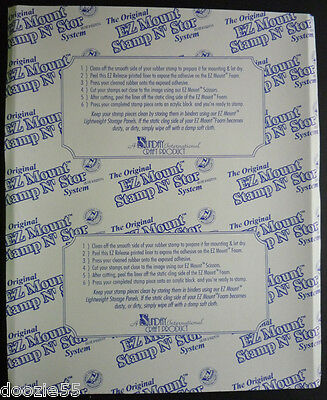 5 Sheets EZ MOUNT Thin Foam Unmounted Rubber Stamps-Static Cling EZThin 8.5 x 10