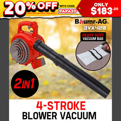 NEW BAUMR-AG 4-Stroke Petrol Blower/Vacuum - Leaf Garden Commercial Hand Outdoor