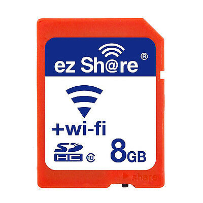 Ez Share Wifi Sd Memory Card 8GB Class 10 2nd Generation ED