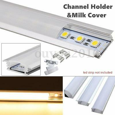 50cm U-Style Aluminium Channel Holder For LED Strip Light Bar Under Cabinet Lamp
