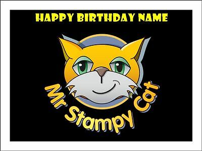 Stampy Cat Edible Icing Images Cake Toppers 2 Sizes A4 & 19Cm