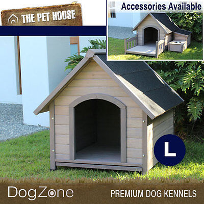 NEW Large Somerset A-Frame Wooden Dog House Wood Timber Kennel