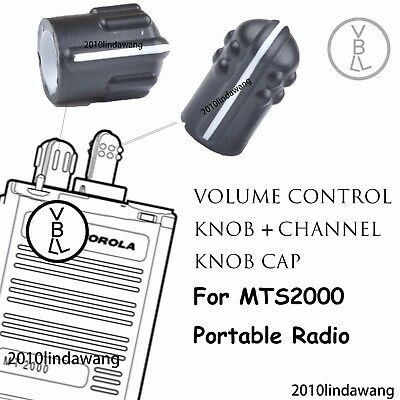 Volume Control knob And Channel Knob Cap For Motorola MTS2000 Portable Radios