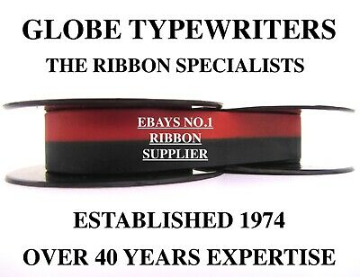 1 x DELUXE 1510 *BLACK/RED* TOP QUALITY *10 METRE* TYPEWRITER RIBBON +*EYELETS*