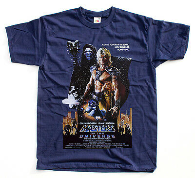 HE-MAN MASTERS OF THE UNIVERSE movie poster NAVY T shirt All Sizes S - 5XL x