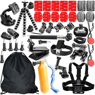42 In 1 Pole Head Chest Mount Strap GoPro Hero 2 3 4 Camera Accessories Set Kit