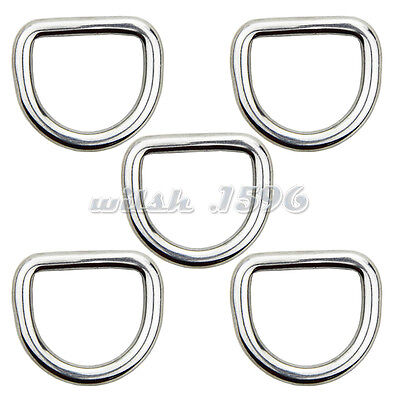 10PCS 4MM Forged 316 Stainless Steel Welded D Ring Boat Rigging Hardware