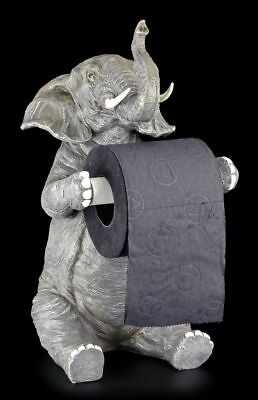 Toilet roll holder - Seated Elephant - Figurine funny witty Bathroom Decor WC