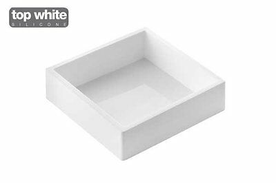 Square Silicone Baking and Dessert Mould 180x180 h50mm by Silikomart