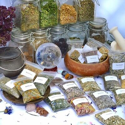 Dried herbs for wicca,witchcraft,spells,magic,incense,crafts A-D (Choice of 180)