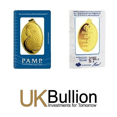 Pamp 20g (Gram) Gold Bar 999.90 FREE INSURED EXPRESS DELIVERY