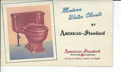 AS-041 Vintage American Standard Water Closets, Toilets 1930's to 1950's Leaflet