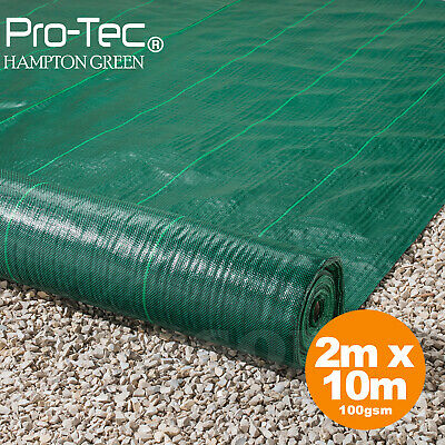 2m x 10m wide 100gsm weed control fabric landscape garden ground cover membrane