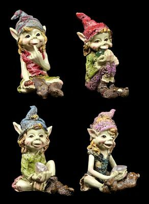 Pixie Figuren - Schau mal was ich habe - 4er Set - Anthony Fisher Kobold lustig