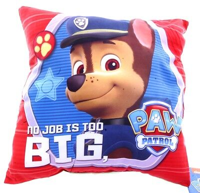 New Official Childrens Pup Heroes Green Paw Patrol Double Sided Cushion Pillow