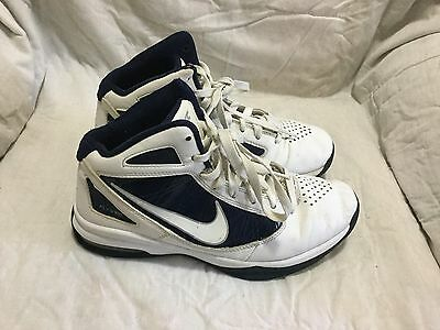 Women's Nike Flywire Basketball Shoes - White Blue - ( Size 8 )