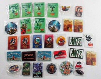 Lot of (31) 1990's Children's Movie Promo Pinback Buttons ^ Antz Bug's Life +