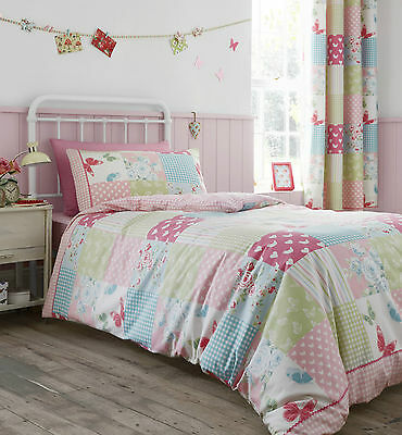 Catherine Lansfield Childrens  Kids Canterbury Patchwork Duvet Cover Bedding Set